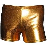 Wet Look Metallic Hot Pants Shorts