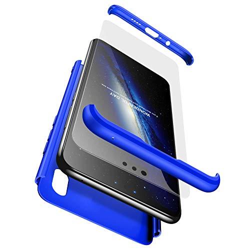 BESTCASESKIN Funda Xiaomi Mi Mix 2s, Carcasa Móvil de Protección de 360° 3 en 1 Desmontable con HD Protector de Pantalla Carcasa Caso Case Cover para Xiaomi Mi Mix 2s (Azul)