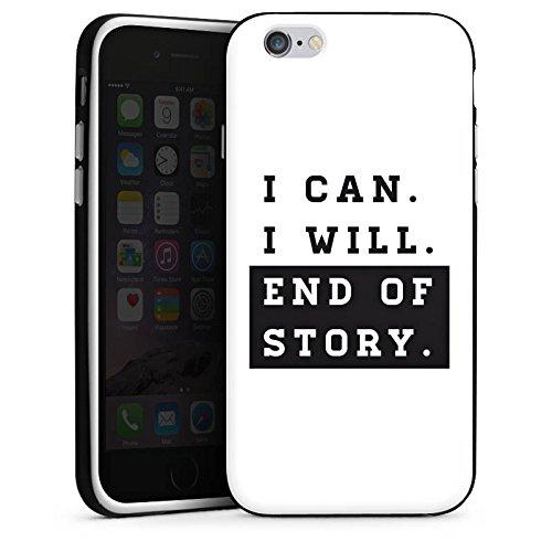 Apple iPhone X Silikon Hülle Case Schutzhülle Motivation Workout Fitness Silikon Case schwarz / weiß