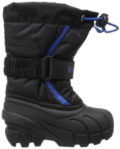 Sorel Flurry TP Rund Synthetik Schneestiefel Black/Bright Blue
