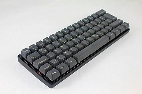 Vortex KBC poker 3 - Ultra-kompakte mechanische Tastatur - Without Backlight PBT Caps- Cherry Mx-Black (QWERTY ISO Nordic) - Metal casing - schwarzen Gehäuse