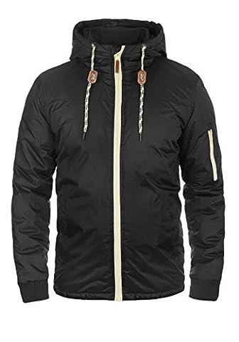 BLEND Carl Herren Übergangsjacke Windbreaker Jacke mit Kapuze aus hochwertiger Materialqualität, Größe:M, Farbe:Black