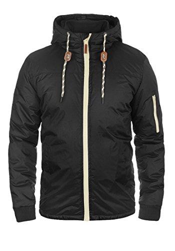 Blend Carl Herren Übergangsjacke Herrenjacke Jacke gefüttert mit Kapuze, Größe:XL, Farbe:Black (70155)