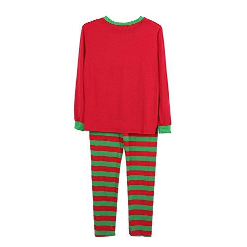 EFINNY Baby - Jungen Weihnachts Schlafanzug Sets passende Familie Lounge Abnutzung Nachtwäsche gestreift Kleine Papa-Rot 2