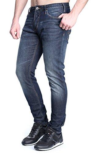 Emporio Armani 3y6j066dagz, Slim (Coupe Étroite, Jambe Ajustée) Homme Bleu