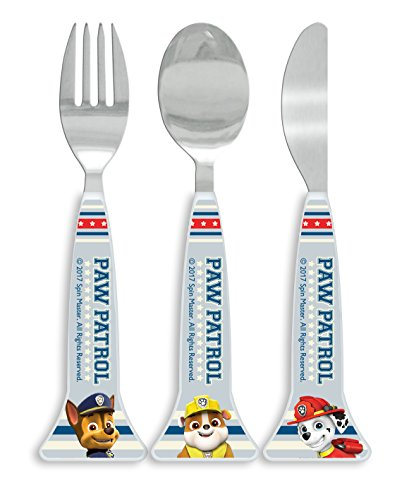 Paw Patrol Cutlery Set, 3 Piece, Knife/Fork/Spoon Multi-Colour