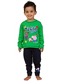 ThePyjamaFactory Jungen Schlafanzug Grün Grün, Grün, 4-5 Jahre