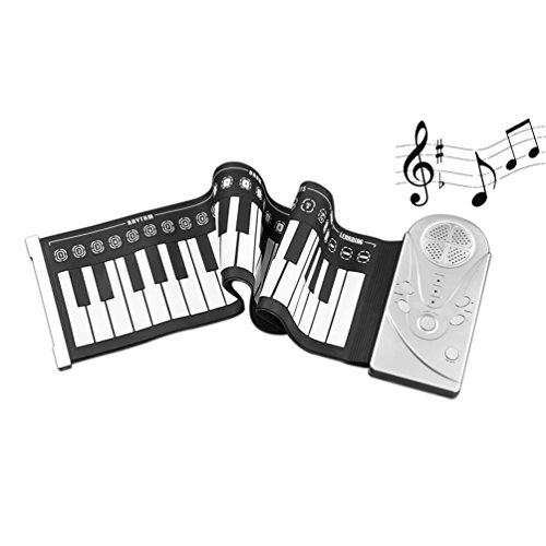 ll Up Piano Elektronische Flexible Tastatur Piano Kunststoff klappbar Tastatur Klaviere mit integrierter Lautsprecher (Kunststoff-klavier-tastatur)
