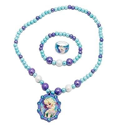 Joy Toy 755782Disney Frozen Perlas Pulsera/Collar y Anillo Set por Joy Toy AG