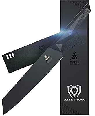 DALSTRONG - Shadow Black Series - Black Titanium Nitride Coated German High Carbon Steel - Sheath - NSF Certified