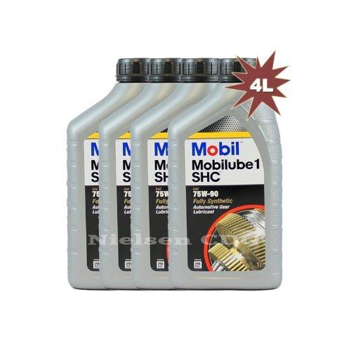 SHC 75W90 Mobilube 1 Olio completamente sintetico per ingranaggi, 1 = 142382 4 x 4 l