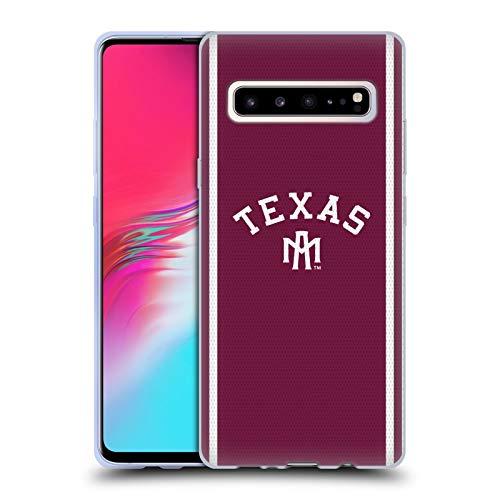Head Case Designs Offizielle Texas A&M University TAMU Fußball Jersey Soft Gel Hülle für Samsung Galaxy S10 5G University Of Texas-jersey