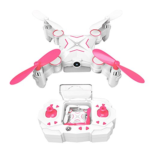 kingtoys® Mini RC Drone 2.4GHz 6-Axis Gyro 1MP HD Cámara Plegable WiFi...