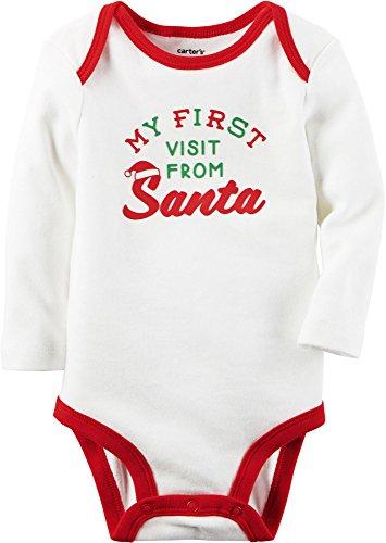 Carter's Langarmbody für Jungen Body Babybody onesie boy Motiv Spruch Langarmshirt (3 Monate, weiss) (Carters Body Onesies)
