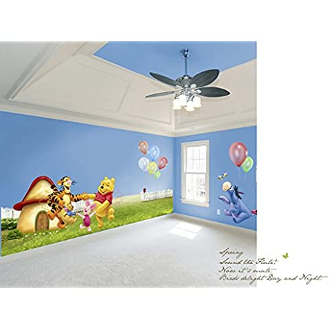 Newsee Adesivi da parete Winnie the Pooh Large Winnie The Pooh Party
