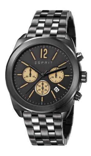 Esprit Herren-Armbanduhr XL Chronograph Quarz Edelstahl beschichtet ES107571005