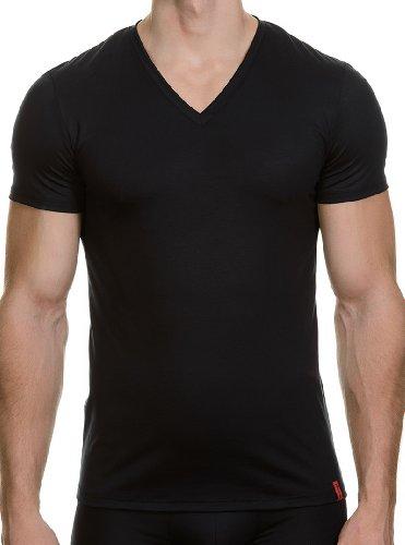 Bruno Banani Herren T-Shirt V-Shirt Base Line, Einfarbig, Gr. Large (Herstellergröße: 6),  Preisvergleich