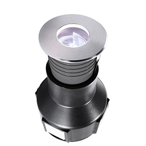 Spot extérieur encastrable sol à LED, spannungskonstant, asymétrique, 24 V DC, 2 W, blanc froid Classe d'efficacité énergétique : A