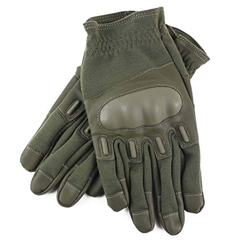 Funytine Neue Art Taktische Vollfinger-Handschuhe Outdoor-Reitsport Taktische Trainingshandschuhe (Color : Army Green, Size : M)