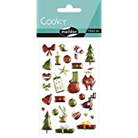 Maildor Cooky Sticker Sheet, Christmas, Red/Green Christmas