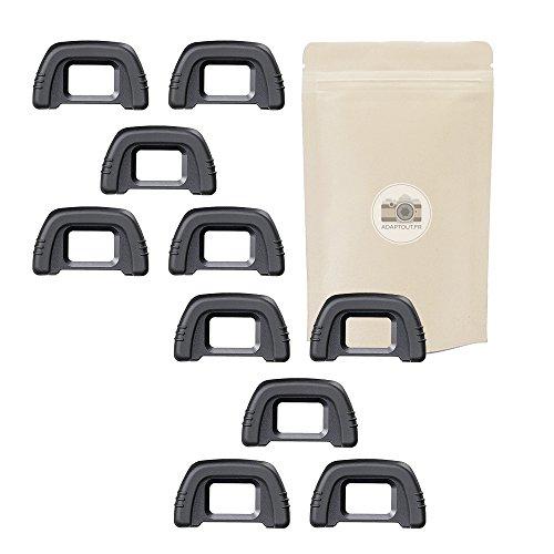 Adaptout - Set di 10oculari in gomma per mirino Nikon tipo DK21,compatibile con Nikon D750, D7000, D90, D80, D610, D200, D600, D7000