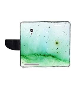 KolorEdge Printed Flip Cover For Asus Zenfone 4A450CG -Multicolor (45KeMLogo11247Zen4A450CG)