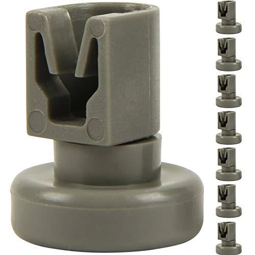 McFilter 8 Oberkorb-Rollen für Spülmaschine (1 Set), geeignete Korbrollen als Zubehör/Ersatzteil für Geschirrspüler von AEG Favorit, Privileg, Zanussi, UVM.