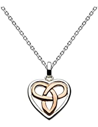 Heritage Sterling Silver Celtic Heart Necklace of Length 45.7 cm