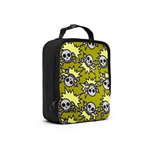 built ny neoprene lunch box skeleton army olive kitchen home. Black Bedroom Furniture Sets. Home Design Ideas