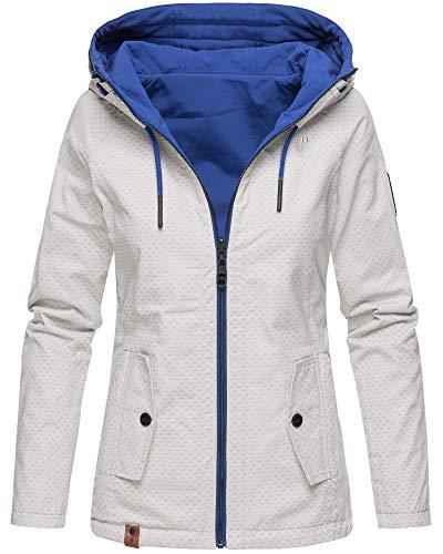 Marikoo Damen Übergangsjacke Wendejacke Baumwolle Softshell Outdoorjacke 12 Farben XS-XXL CHUU -