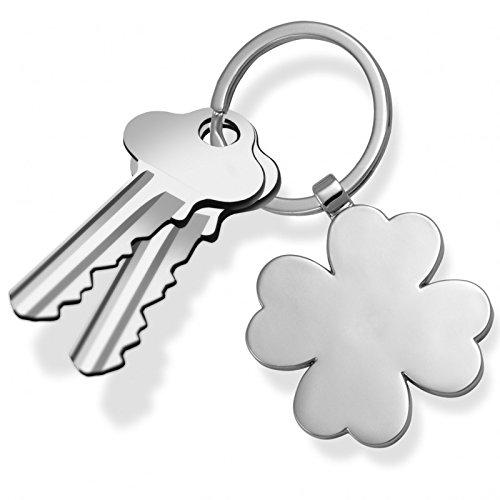 Preisvergleich Produktbild Schlüsselanhänger Keeblatt Silber Farben Metall LuckyYou
