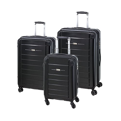 CheckIn Helsinki lot de 3 valises 4 roulettes noir