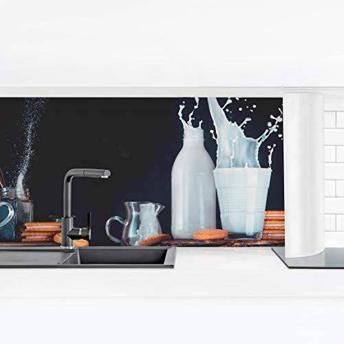 Bilderwelten Küchenrückwand Panorama Folie Bad - Milch und Tee Komposition Smart 90 x 315 cm -