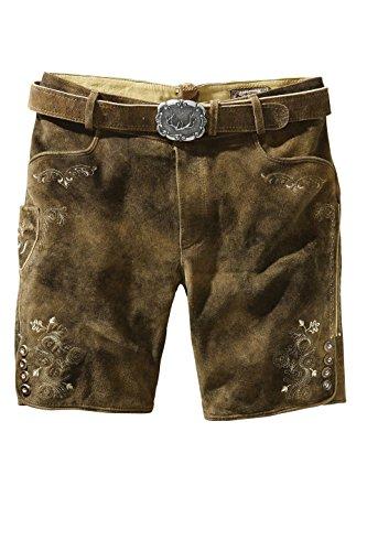 Stockerpoint - Herren Trachten Lederhose mit Gürtel in verschiedenen Farben, Corbi3, Farbe:Havanna;Größe:48