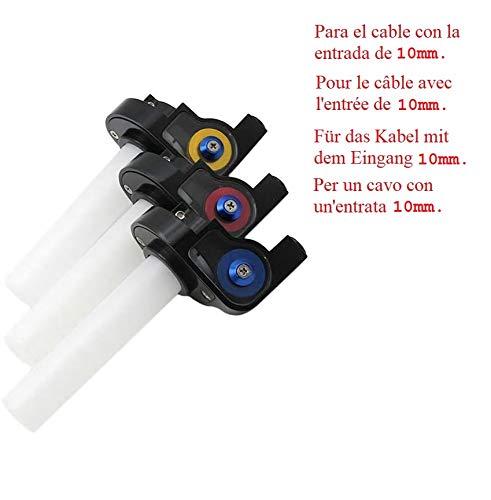 Puño de Gas rápido Corto 14 para Acelerador de Moto Aluminio/plastico pitbike...
