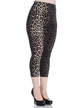 Pantalones Capri Piratas 3/4 de Hell Bunny Panthera Leopardo en estilo de los 50s Vintage Retro