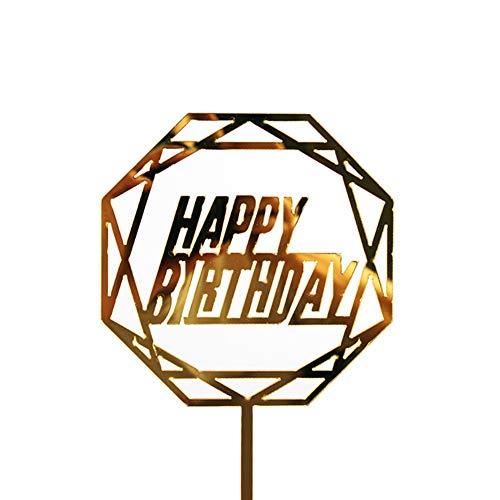 Zonfer Glitter Alles Gute Zum Geburtstag Kuchen-Deckel Acryl Brief Gold-Kuchen Top-Flagge Dekoration Für Geburtstags-Party Wedding Supplies (Brief E-hochzeitstorte Topper)