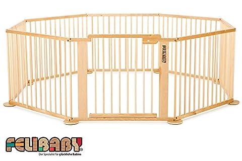 ONE4all 1+7 - Barrière de sécurité modulable, parc bébé, parc