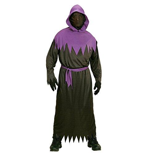 Widmann 00108 - Kinderkostüm Phantom, Robe mit Kapuze, Unsichtbarer Gesichtsmaske und Gütel, Größe 158, schwarz