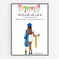 Personalised Graduation Print, Fun Portrait Style Gift in A3 or A4