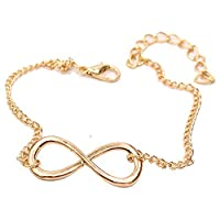 UEUC Sexy Infinity Women Charm Tone Chain Barefoot Anklet Bracelet Foot Chain (Gold-plated)