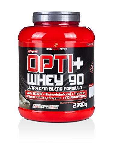 BWG Opti+ Whey 90 Protein, Eiweißshake, Muscle Line, Vanille, 1er Pack (1 x 2390g - Egg Vanille Protein