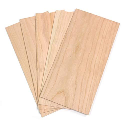 wodewa Holz Furnier Set 4mm Starkfurnier Kirsche 30x14cm 5er Set Sägefurnier Bastelholz Platten Echtholz Holzfurnier zum Basteln Holzplatte Bastelset Modellbau DIY