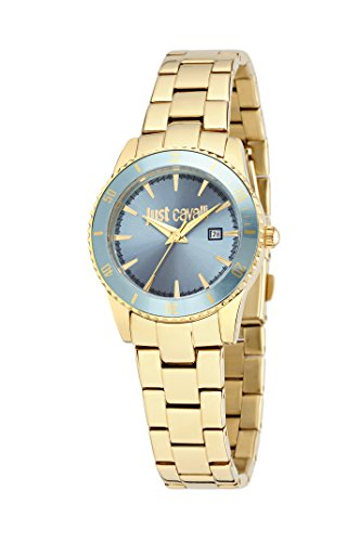 Just Cavalli Just In Time Women's Quartz Watch with Blue Dial Analogue Display and Blue Stainless Steel Strap R7253202501