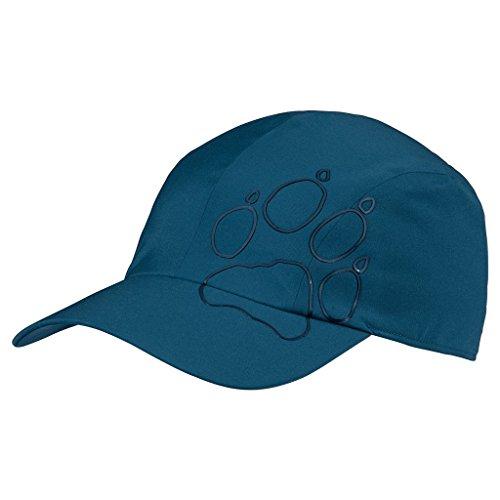 Jack Wolfskin Unisex Hoch atmungsaktive Softshell-Kappe mit faltbarem Schirm, moroccan blue, L
