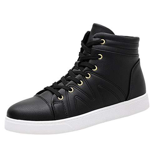 Virginia Hohen Schuhe (Platte Schuhe Herren Sneaker Hohe Schuhe Mode Leichte Touristische Schuhe rutschfeste Schnürer Wanderschuhe Casual Elegante Sportschuhe Outdoor Freizeitschuhe)