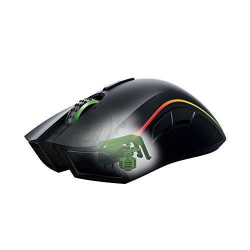 Razer Mamba Wireless Edition RGB Beleuchtete Ergonomische Gaming Maus (Präziser 16.000 dpi Sensor mit 9 programmierbaren Tasten) - 6
