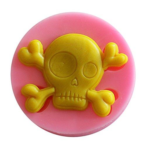 XLGX Pink Hausgemachte Silikon Backform Gesundheit und Sicherheit Backform Halloween Schädel Backen Kuchenform (A)