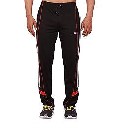 Vimal Men's Striped Cotton Trackpants (D7_Black_Large)