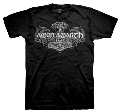 Amon Amarth - Uomo Viking Horses T-Shirt In Nero, Large, Nero
